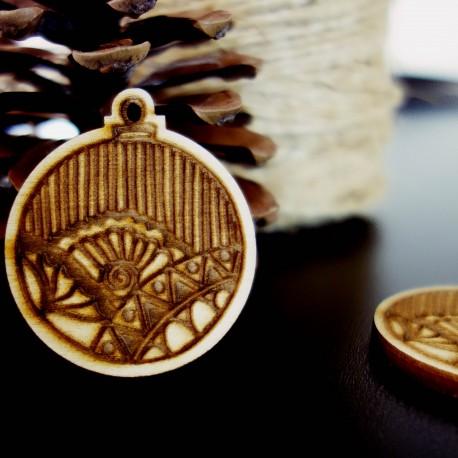 Dekorácie na Vianoce vyrobené z dreva, rozmer: 47x40 mm