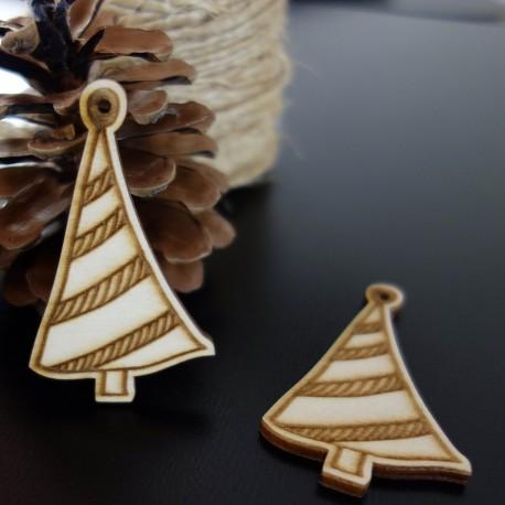 Vianočný stromček ako ozdoba, rozmer: 67x40 mm