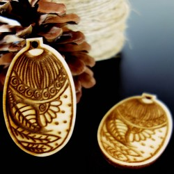 Ozdoby na vianočný stromček drevené, rozmer: 65x40 mm
