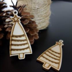 Vianočná ozdoba vyrobená z dreva, rozmer: 84x40 mm