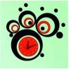 Moderné nalepovacie nástenné hodiny LAUREN