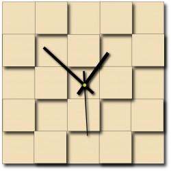 Moderné nástenné hodiny štvorce (hodiny na stenu z plastu ) DEKOFER