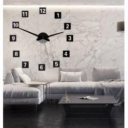 Veľké nástenné hodiny štvorcové (hodiny na stenu z plastu ) 2D DEKOR