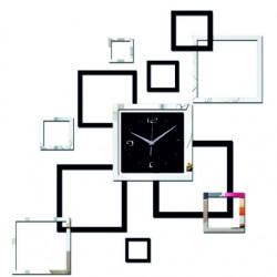 Moderné nalepovacie hodiny (hodiny na stenu štvorce ) DESING JOHN XL