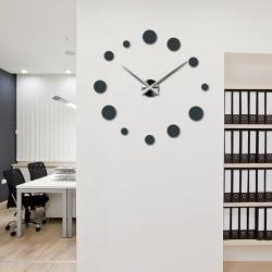 Veľké nástenné hodiny bodka (moderné hodiny na stenu) DEKORAJ
