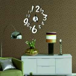 Nástenné hodiny čísla ( zrkadlové hodiny na stenu ) HOLANDIA