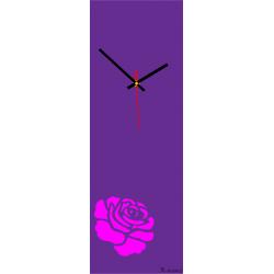 Nástenné hodiny ruža ružová ( moderné hodiny na stenu ) farba:ruža ružová