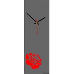 Nástenné hodiny moderné ( moderné hodiny na stenu ruža ) farba:ruža červená