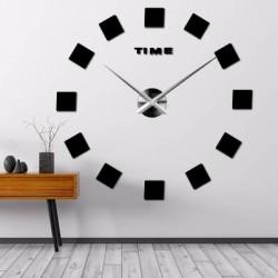 Nástenné hodiny nalepovacie ŠTRVORCE 3D