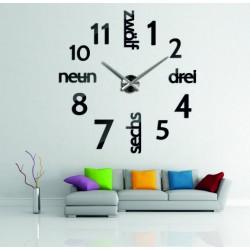 Moderné hodiny na stenu DIY DRIWAL 3D
