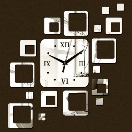 Nalepovacie hodiny na stenu štvorec moderné 50x40 cm FIGARO