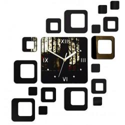 Nalepovacie hodiny na stenu štvorec moderné 50x40 cm ZRKADLO