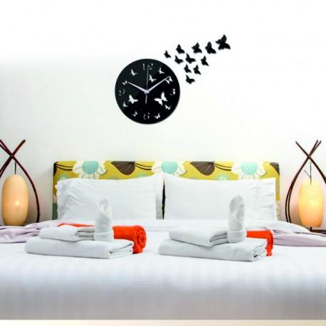 Nástenné hodiny do obývačky CUBUS, 30x30 cm