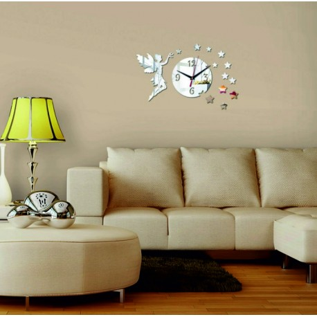 Nástenné hodiny do obývačky ako dekorácia, Víla, 40x40 cm