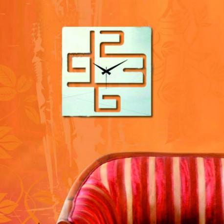 Nástenné hodiny zrkadlo,Čísla v kocke, 38x38 cm