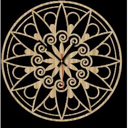 Nástenné hodiny mandala pokoja EVELIN