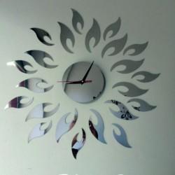 Nástenné hodiny zrkadlové Slnko, 42x42 cm