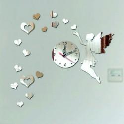 Nástenné hodiny do detskej izby Lietajúce srdcia, 40x60 cm