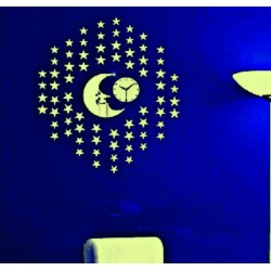 Nástenné hodiny moderné Dobrú noc, 40x40 cm