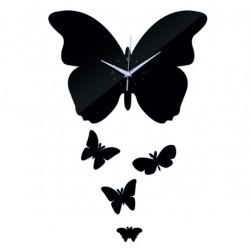 Nástenné hodiny zrkadlové Motýle, 35x45 cm