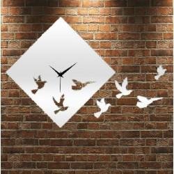 Nástenné hodiny zrkadlové Holubice, 30x30 cm