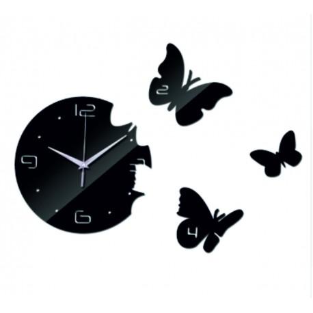 Nástenné hodiny motýľ DIY nalepovacie hodiny 40x 40 cm EPSON