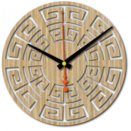 Nástenné hodiny z dreva preglejky 4 mm moridlo  FAREBNÉ