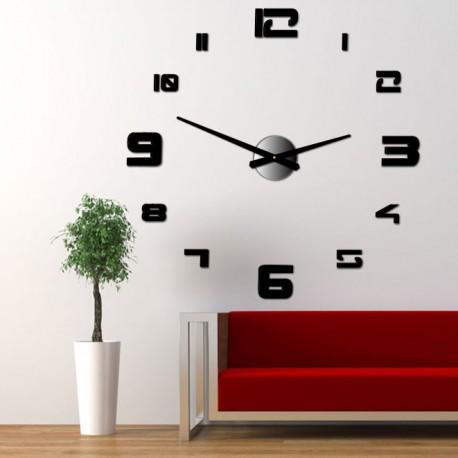 Nástenné hodiny nalepovacie  veľké plexi DIY STRONGO