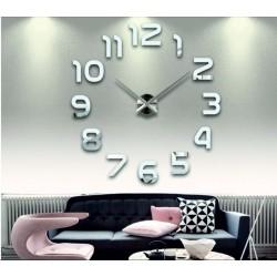 Nástenné hodiny zrkadlové velké DIY 3D PENA PMMA FOX