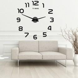 Nástenné hodiny veľké nalepovacie plexi 2D DIY PALETTE