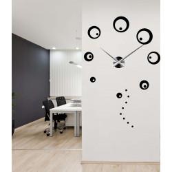 Hodiny na stenu velké kruhy nalepovacie DIY SVARBACH