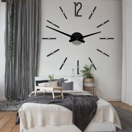 Moderné nástenné hodiny nalepovacie SOFIA XXL DIY samolepka