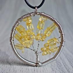 Prívesok z polodrahokamu - strom - citrín
