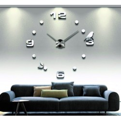 Zrkadlové hodiny na stenu nalepovacie DIY PAJPA