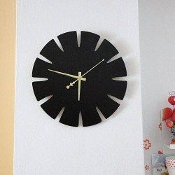 SENTOP Drevené hodiny na stenu z MDF SPECTRA HDFK0011 čierne