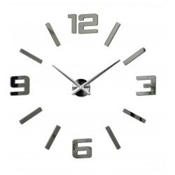 Nástenné hodiny zrkadlové  veľké čísla DIY ORFEO