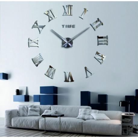 Veľké nástenné hodiny zrkadlové rímske DIY KOLESOEU