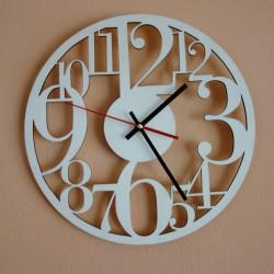 STYLESA hodiny na stenu z drevenej preglejky FILP PR0160 čierne