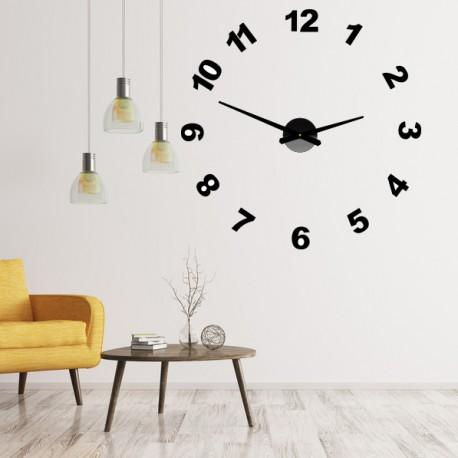 Dizajnové nástenné hodiny nalepovacie PLEXI čísla OPTIC