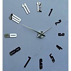 Nástenné hodiny zrkadlo HOPARTI 3D DIY hodiny ako obraz