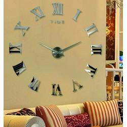Nástenné hodiny rímske DIY 3D hodiny na stenu ako obraz HUGO