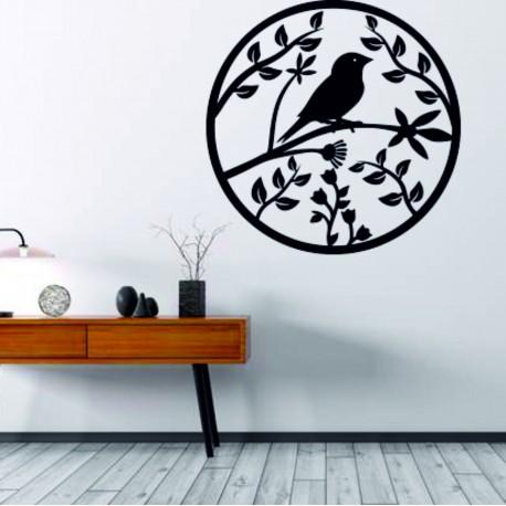 Drevený obraz na stenu z preglejky už je jar štebot vtáka.