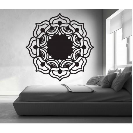 Mandala růže života kulatá dřevěný obraz na stěnu z překližky MIREK