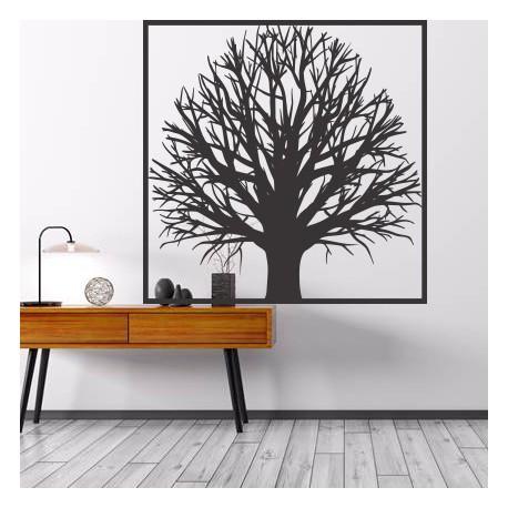 Drevený obraz na stenu strom z preglejky strom  GEMER