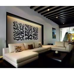Drevený obraz na stenu konáre z preglejky topoľ. Obraz sa skladá z troch častí MAVAMF