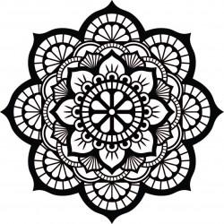 Mandala kvet života drevený obraz na stenu z preglejky HELLA