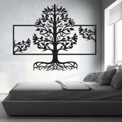 Drevený obraz na stenu korene strom z drevenej preglejky topoľ MALFEL
