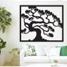 Drevený obraz na stenu strom bonsai drevenej preglejky topoľ DRAZSKA