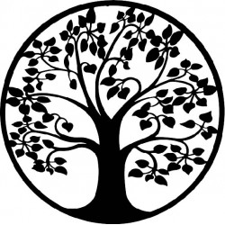 Moderný obraz na stenu strom kruh z drevenej preglejky topoľ LONITIFF