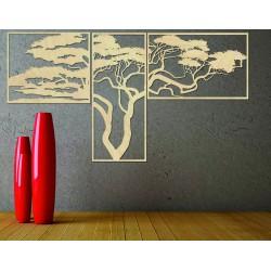 Drevený obraz na stenu HANAA  Obraz sa skladá z troch častí POLONGE